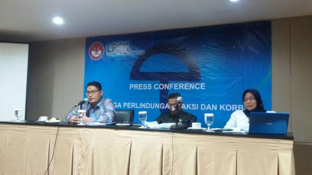 Konprensi pers bersama LPSK