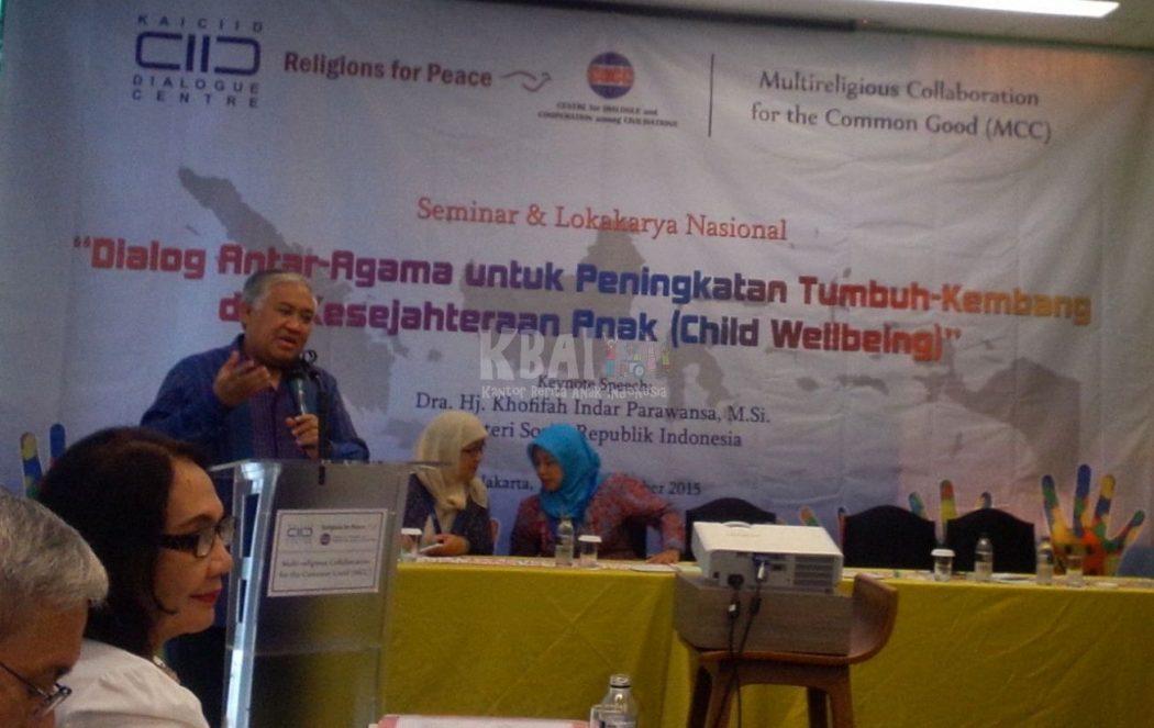 Pak Din Pidato dalam Workshop Child Wellbeing