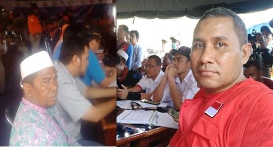 Zubedy Koteng perwakilan Save The Children dan Awaludin perwakilan Forum Nasional Lembaga Kesejahteraan Sosial Anak dan Panti Sosial Asuhan Anak dalam Koordinasi Nasional Gempa Lombok bersama BNPB