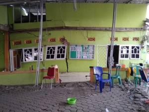 Panti LKSA Wali Songo yang mengalami kerusakan berat di di Jalan Soekarno Hatta No 12 Kelurahan Talise Kota Palu
